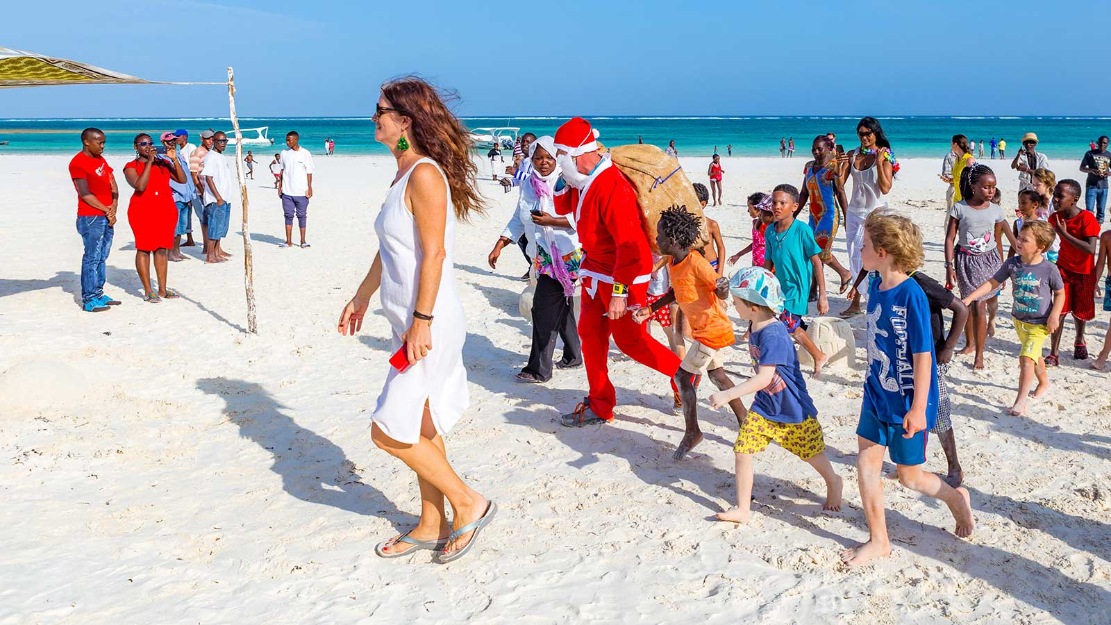 Father Christmas Nomad Beach Bar Diani Beach