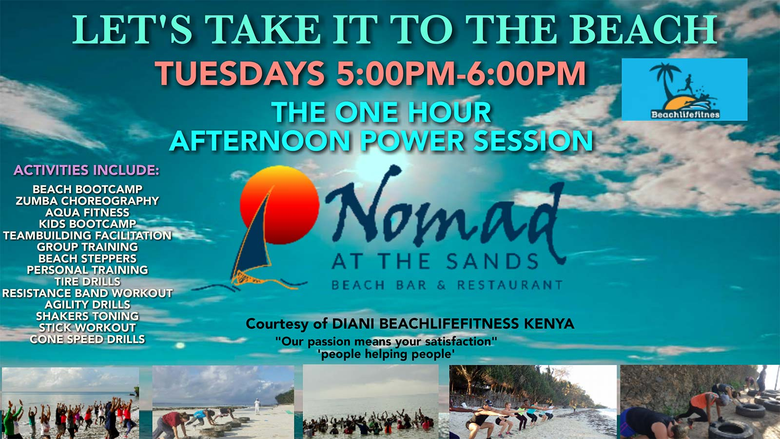 Nomad Beach Bar Events
